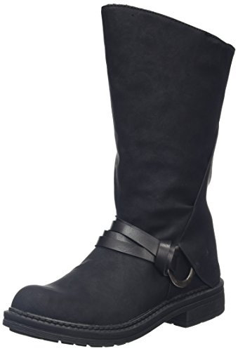 Blowfish Damen Fenni Biker Boots Schwarz (Black)