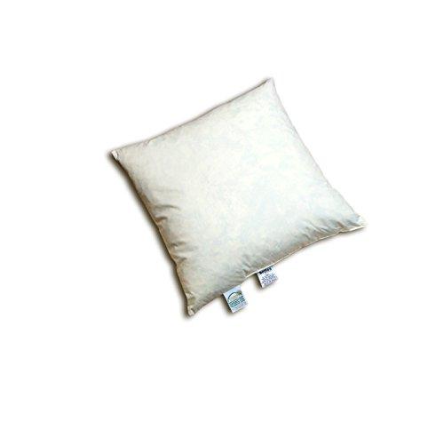 """Baumwolle Traditionellen Stuhl (beties """"Publik"""" Federkissen 45x45 cm (echte Federn) vielfältige Größen und Füllmengenauswahl, waschbar traditionell gefertigt Farbe Creme)"""