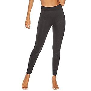 YCQUE Damen Yogahose, Frauen Plus Größe beiläufige Schwarze weiche tägliche hohe Taille Workout-Weinlese-Druck-dünne Gamaschen Eignung Sport Yoga athletische Hosen Lange Laufhose