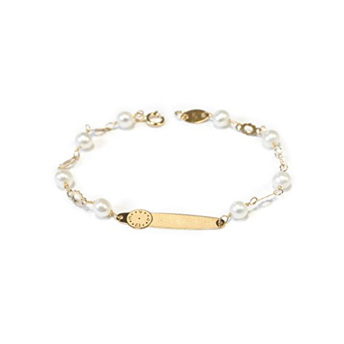 monde-petit-g1224pu-18ct-yellow-gold-childrens-birth-time-and-pearl-bracelet