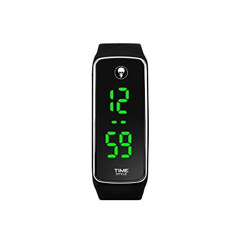 f15235ba327d Nuevo modelo 2017 - Tiempo Style negro y cromo - LED reloj unisex