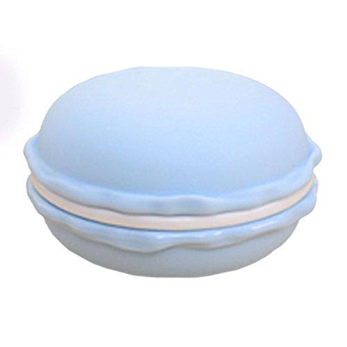 Amybria Mini Stil Nette Macaron Schmuckschatullen Pillendosen Aufbewahrungsboxen für Ohrringe, Ringe, Halskette, Kopfhörer, In-Ear Ohrhörer (Blau)