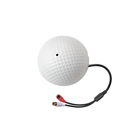 CORSEE CCTV-Mikrofon mit Vorverstärker und Inline-Power,Sicherheitskamera Audio Pick-up Nur für 1080p Überwachungskamera