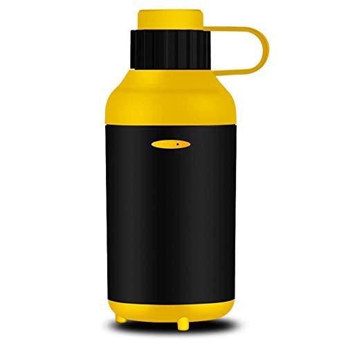 PANQQ Auto elektrische Luftreiniger Luftbefeuchter Aromatherapie Maschine Nebel Auto USB gelb