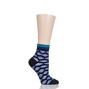 Damen 1 Paar ToeSox Bella Yogasocken, aus biologischer Baumwolle, 5-Zehen-Design, vorne offen, in fuchsia