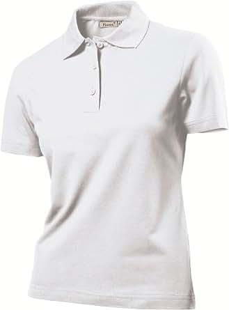 Hanes 2950 Womens Elegance Top Polo Shirt White L