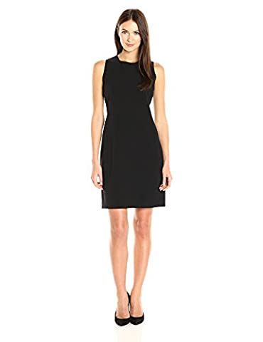 Anne Klein Women's Sheath Dress with Yoke, Black, 8