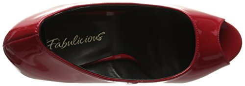 Fabulicious FLAIR-474 FLA474/B/M Multicolore (Red/Blk)