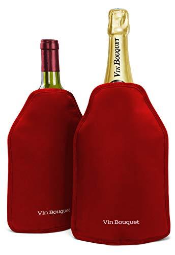 Vin Bouquet Fie 342 - Funda enfriadora autoajustable Antideslizante Regalo Ideal para los amantes del Vino, 1, Rojo