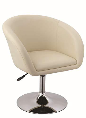 Duhome Sessel Creme höhenverstellbar Esszimmerstuhl Kunstleder Clubsessel Coctailsessel Loungesessel - Typ 440