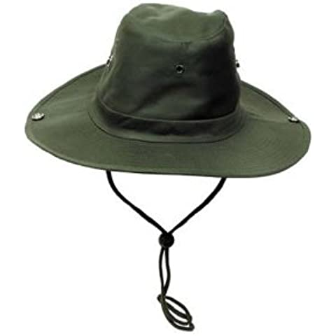 MFH Busch sombrero verde, hombre mujer, color verde oliva, tamaño S(55)