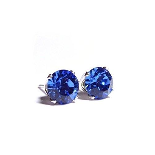 Targarian Punto Luce in Argento Unisex Cristallo Swarovski 2 Carati - Zaffiro Blu by