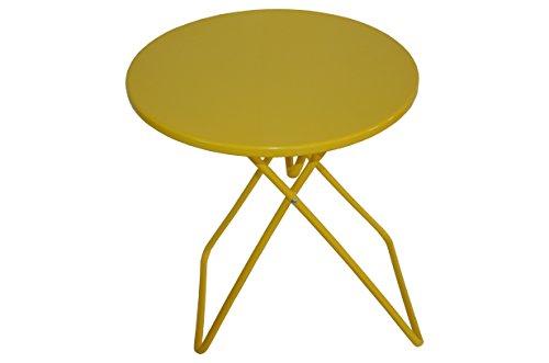 Fair-Shopping Beistelltisch Campingtisch Klapptisch Metall 46 cm H230 (gelb)