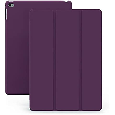 KHOMO Funda iPad Air 1 - Carcasa Morada Protectora Ultra Delgada y Ligéra con Smart Cover y Soporte para Apple iPad Air 1 - Dual Purple