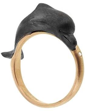Roberto Marroni Unisex-Ring Diamant Weiß Rundschliff - Größe 53 (16.9)