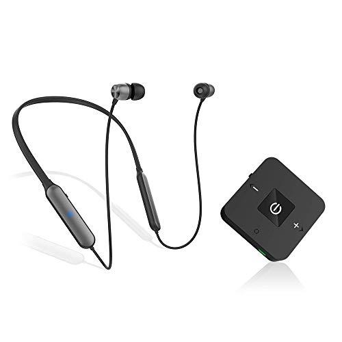 Casque Bluetooth pour Regarder la télévision avec émetteur sans Fil, Casque stéréo Golvery avec Adaptateur Audio à Faible Latence pour PC et Jeux, Optique numérique, RCA, Aux 3,5 mm, Plug n Play