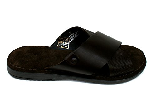 Base London Hector, Sandales Bout Ouvert Homme brown