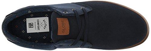 Globe Willow Hommes Cuir Chaussure de Basket Dark Blue-Blue