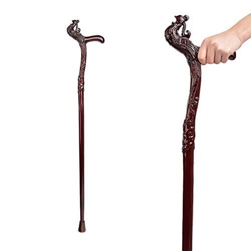 Hölzerne Krücken (DX-Crutch Gehstock Cane Genuine BUBINGA Spazierstock Holz handgefertigt Geschnitzt Hölzerne Krücke)