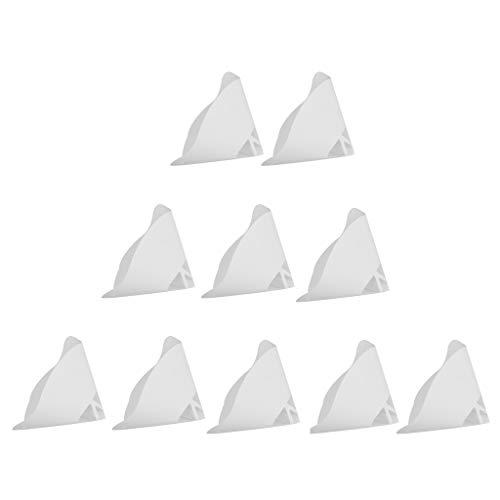 D DOLITY 10 Stücke 3D Drucker Trichter 3D Drucker Zubehörteile Filter Papiertrichter Filternutsche