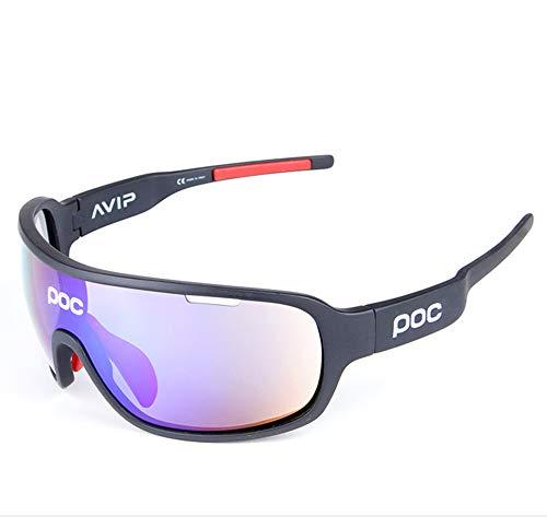 YPSMJLL Sportbrillen Anti-Glare-Brillen Outdoor-Sportbrillen Polarisierte Sonnenbrillen Anti-Glare-Effekt Kratzfeste Gläser Running Ski Ultraleichtes Design Vollformat Sport