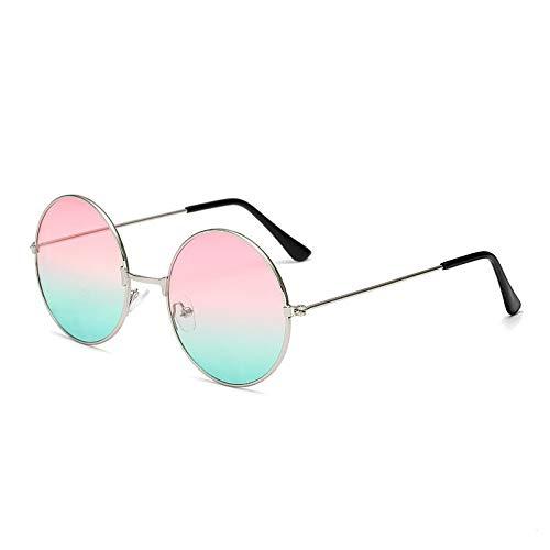 CCMOO Metall kreisförmige Mode marine Linsen rote Sonnenbrille Männer und Frauen Persönlichkeit Prince Mirror-3