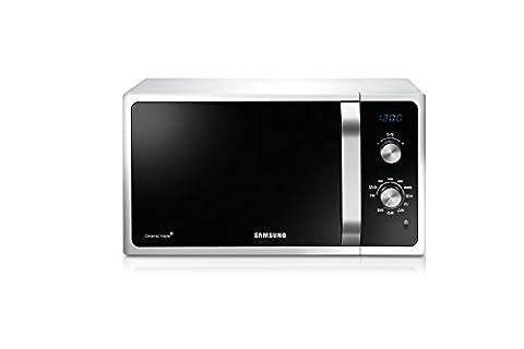 Samsung MG23F301ECW Mikrowellenherd 800W, Grill 1100W, Fassungsvermögen 23l, Weiß