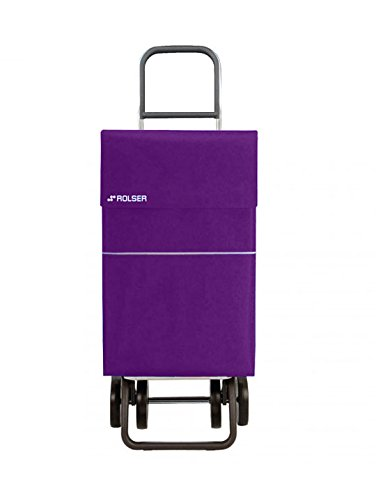 Rolser Jean LN - Carro de compras, 4 ruedas, Malva