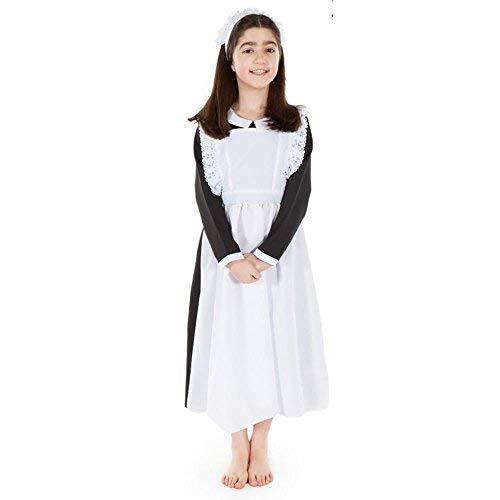Kinder Edwardian Kostüm - Downtown Dienstmädchen - Kinder-kostüm 7 - 9 jahre