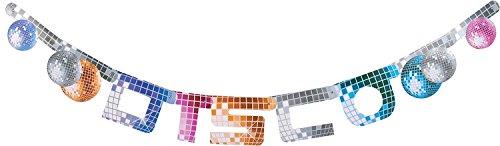 rlande * Disco * zur Dekoration für Eine Motto-Party | Deko Feier Fete Banner Pappe Mottoparty ()