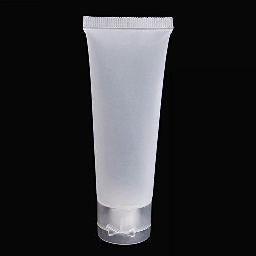 Runrain 1 Stück Leere Kunststoff Tragbare Rohre Squeeze Kosmetische Creme Lotion Reiseflasche (50ml) -