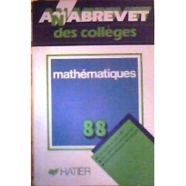 Annabrevet 1988, Brevet des collèges, Mathématiques