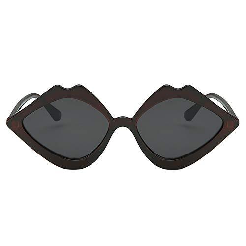 nbrille Unisex Lippenform polarisiert Sonnenbrille Stil Eyewear für Outdoor Brille 15 * 13.5 * 3.7cm Schwarz ()