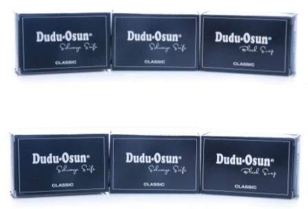6 x 150 g Dudu-Osun - Schwarze Seife aus Afrika Naturseife mit Sheabutter