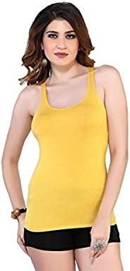 Dayoke Inner Racer back Camisole Crossback Sphageti For Women/Girls