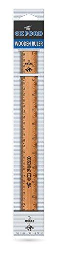 Helix Oxford Vintage 30cm Wooden Ruler