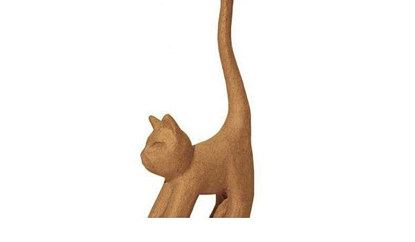 Decoupage Tiere Hobby-Farben Karton-Objekt-Xs-Katze Mit Langem Schwanz Themen D/écopatch
