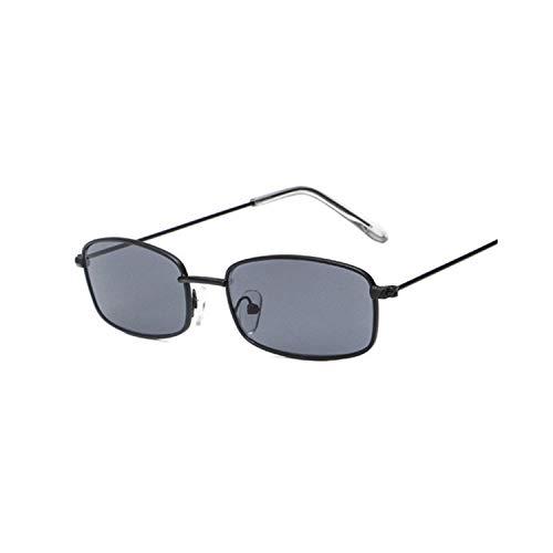 FGRYGF-eyewear2 Sport-Sonnenbrillen, Vintage Sonnenbrillen, Metal Frame Sunglasses Men Retro Small Square Sun Glasses Women Yellow Lens Small Cat Eye Sunglass Female Shades Eyeglass Black