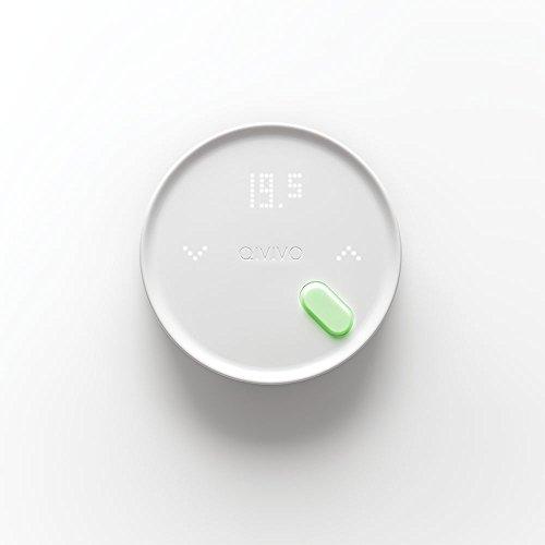 Qivivo Thermostat connecté sans fil, version chauffage électrique (fil pilote)