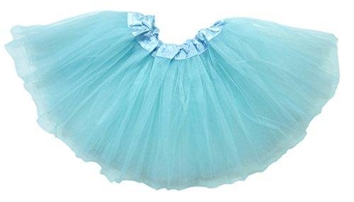 Dancina Mädchen Tüllrock Tutu Ballettrock Classic 2-7 Jahre (Blauen Ariel Kostüme Kleid)