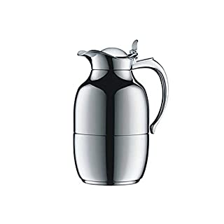 Alfi 0520.219.100 Helena Insulated Flask 1 L Metal 13 x 17.3 x 24.8 cm Polar White, Chrome, Verchromt (1 L), 15.5 x 14.8 x 25.7 cm