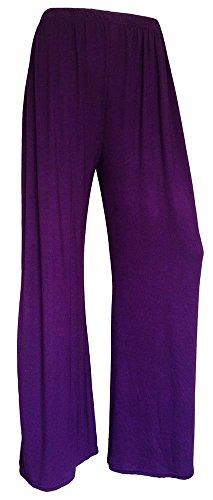 Generic Damen Hose, Einfarbig mehrfarbig * Einheitsgröße Violett