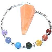 Dowser - Orange Aventurine With Seven Chakra Chain Pendulum Chakra Balancing & Reiki Healing Dowser Crystal Spiritual... preisvergleich bei billige-tabletten.eu