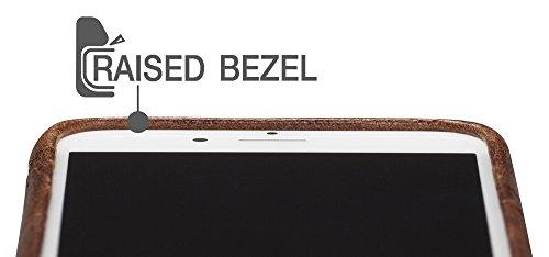 Sena zum Aufstecken Wallet, Premium alle Leder Wallet Drop sicheren Snap auf Fall für das iPhone 7Plus blau denim toffee