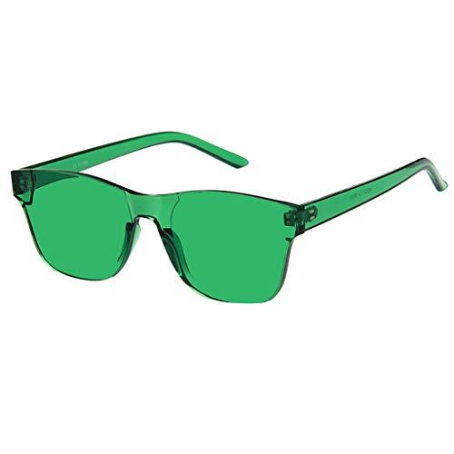 Whycat sonnenbrille damen Cateye Sonnenbrille Einteilige, herzförmige, randlose Sonnenbrille Transparente, bonbonfarbene Brille(F)
