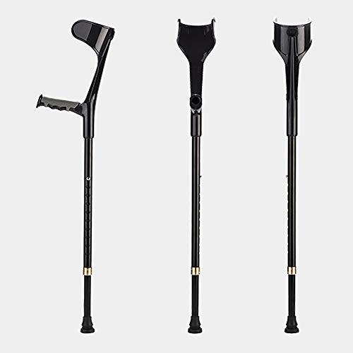 HLAXZ Verstellbare Krücken für Erwachsene mit gepolsterten Griffabdeckungen, Aluminiumrohr separat oder in Paaren verkauft (schwarz),1