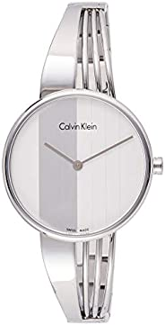 Calvin Klein Women's Quartz Watch, Analog Display and Stainless Steel Strap K6S2
