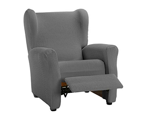 Martina Home Schutzhülle aus elastischem Sessel Modell Tunez Bezug für Relax-Sessel 32x42x8 cm grau