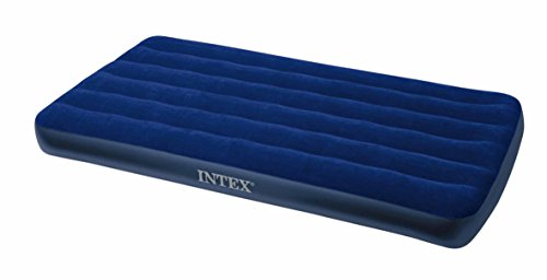 Intex Classic Downy 68757, Materassino gonfiabile, Twin - 99 x 191 x 22 cm - Blu