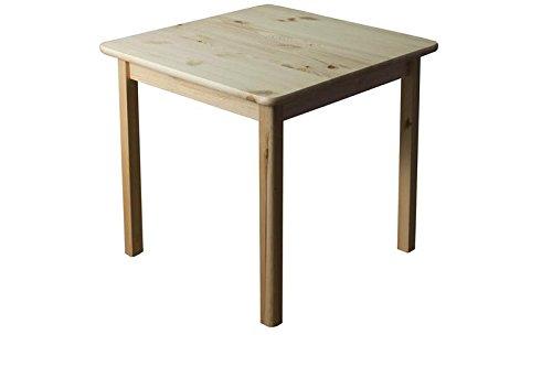 Tisch 70x70 cm Kiefer massiv, Farbe: Natur